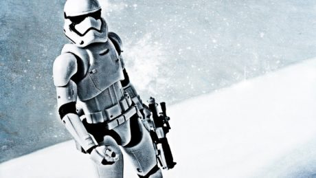 In winter, snow, Stormtrooper