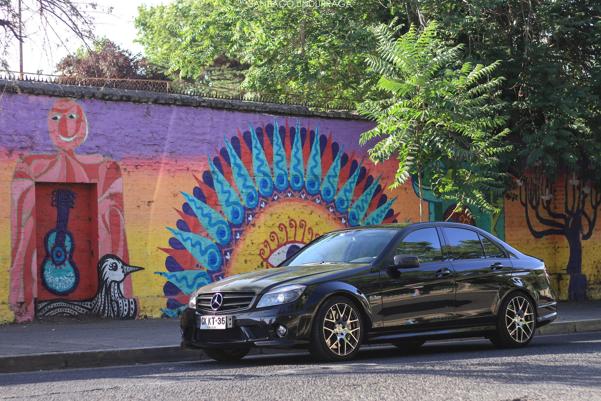 Mercedes-Benz C63 AMG on custom wheels