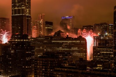 Chicago, Skyscrapers, Fireworks