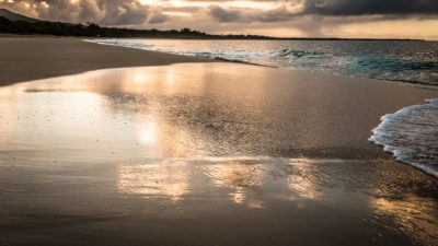 Makena Beach, Maui, Golden reflection
