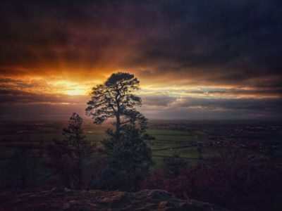 Sunset at Haughmond hill
