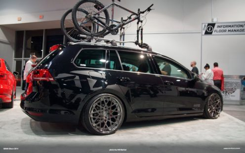 VW Golf SportWagen - bicycle rack