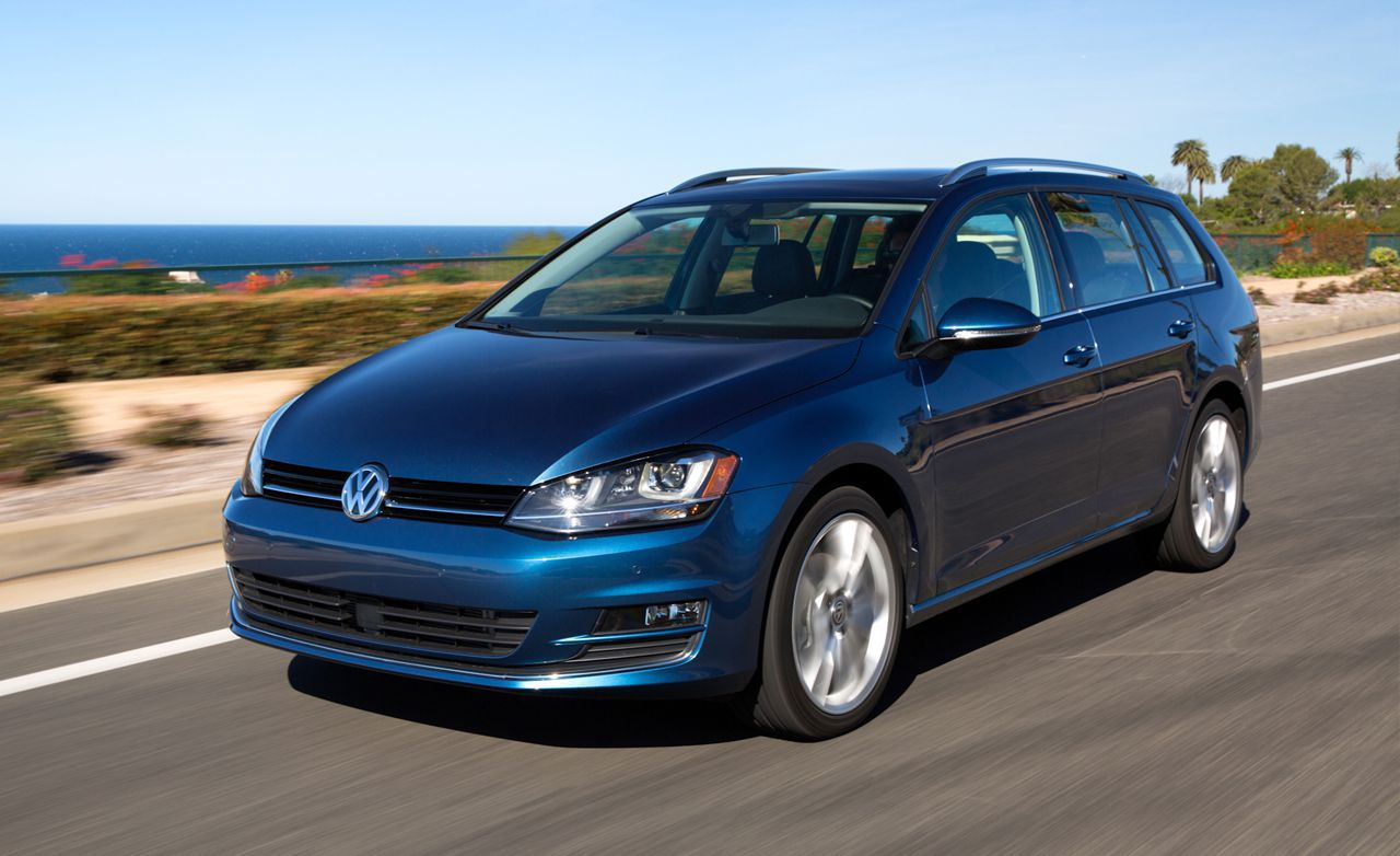 VW Golf SportWagen - blue