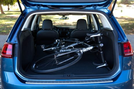 VW Golf SportWagen - trunk, bicycle