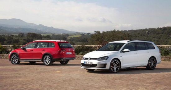 VW Golf SportWagen - white, red
