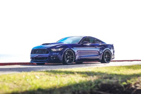 blue 2018 Ford Mustang GT 5.0