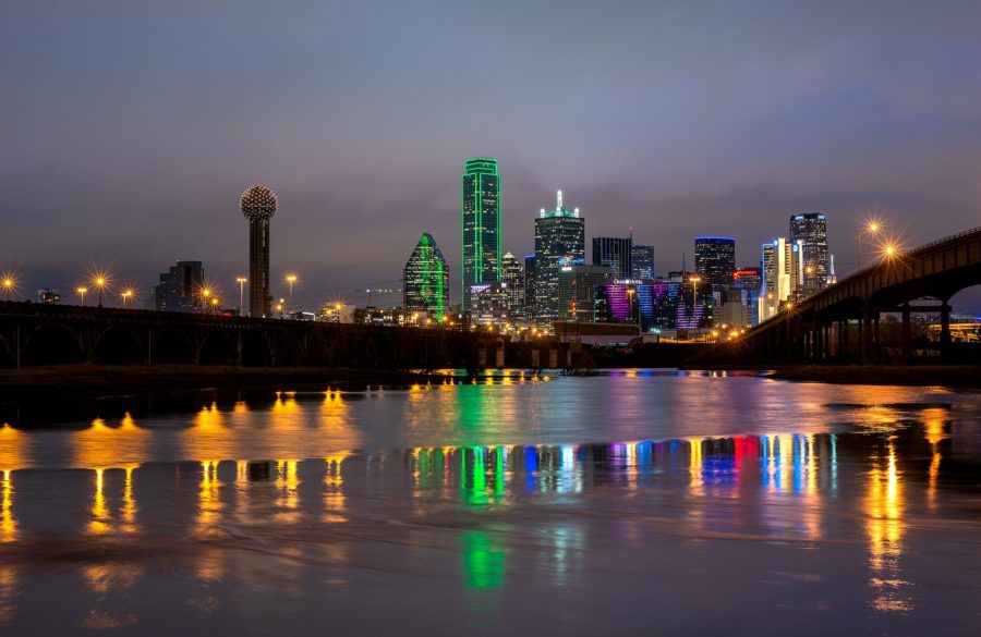 Night In Dallas Skyscrapers Skyline Wallpapers