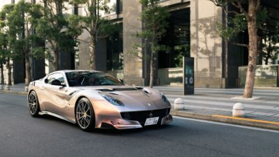 Silver Ferrari F12 TDF, Sports car