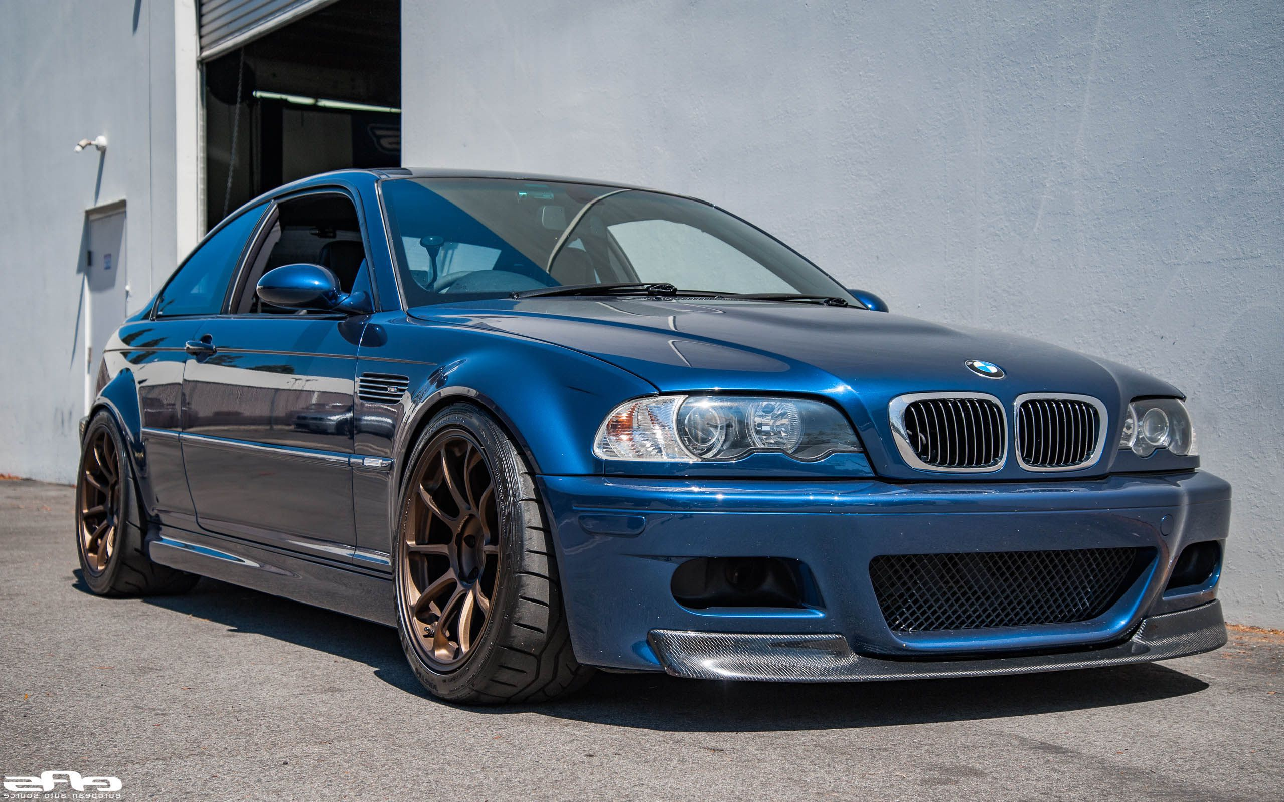 blue bmw m3 e46 csl coupe