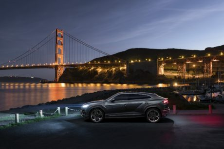 2019 Lamborghini Urus at bridge background