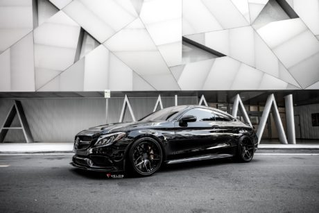 2019 Mercedes-Benz C63s coupe velos custom wheels full hd image