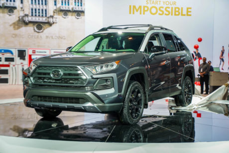 2019 Toyota RAV4 at Chicago Auto Show, February 2019