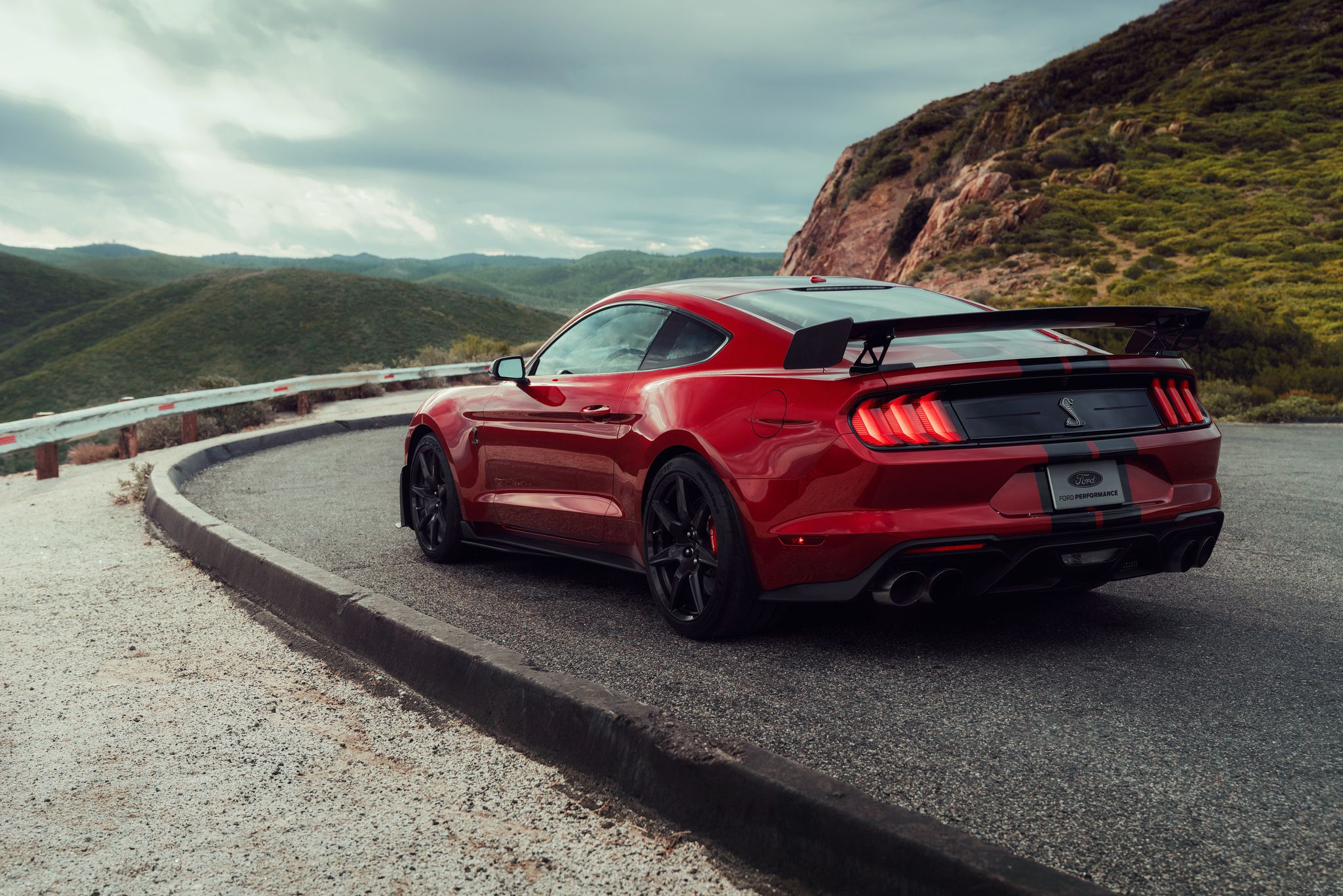 2020 Ford Mustang Shelby GT500 - at beautiful mountains background