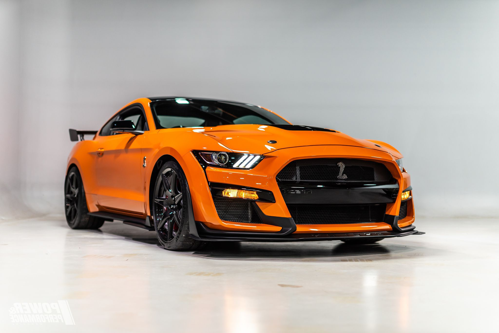 orange ford mustang shelby gt hd image
