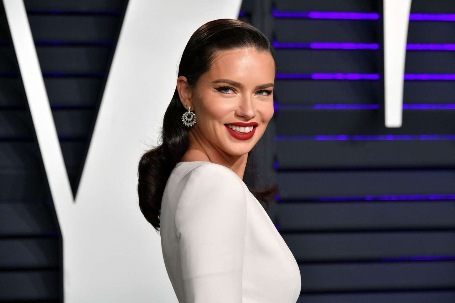 Adriana Lima - fashion model at Vanity Fair Oscar Party