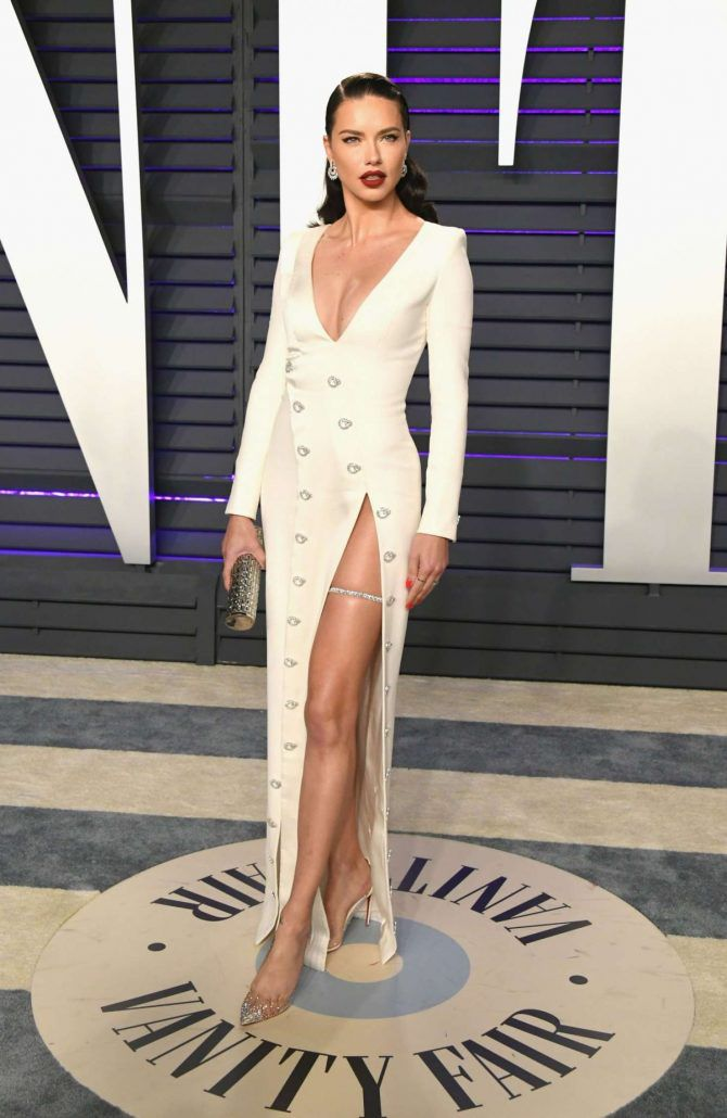Adriana Lima - new street style at Vanity Fair Oscar Party