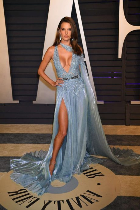 Alessandra Ambrosio - fashion model at Vanity Fair Oscar Party