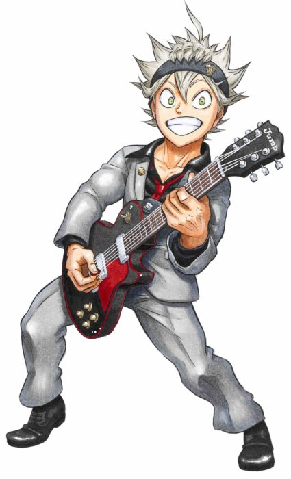 Asta with a guitar