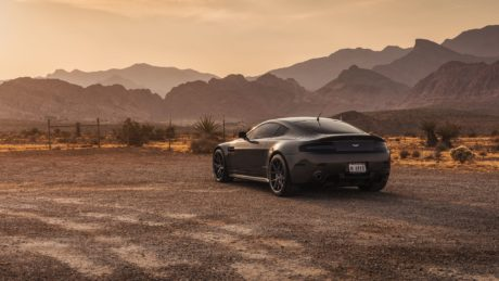 Aston Martin at canyon background