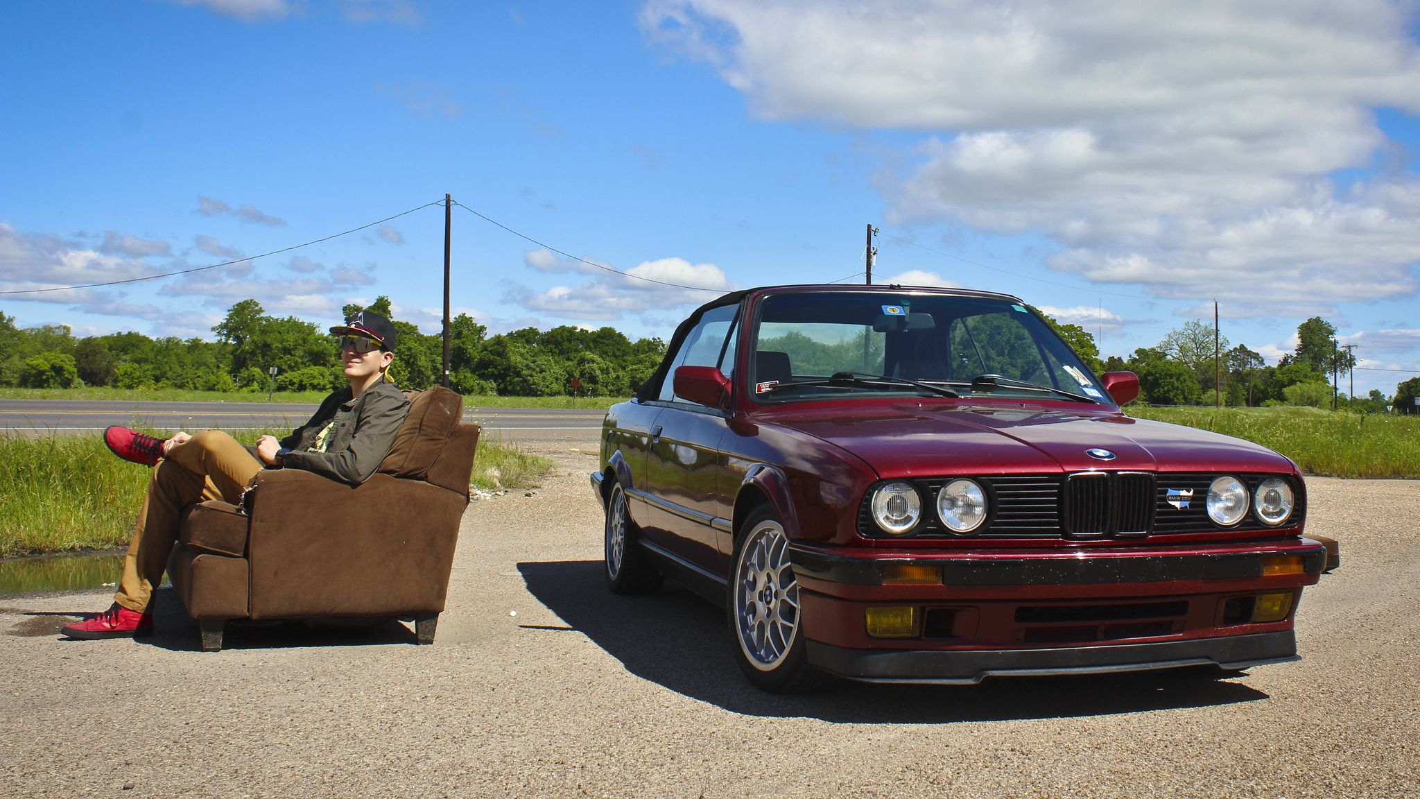 BMW E30 with his owner