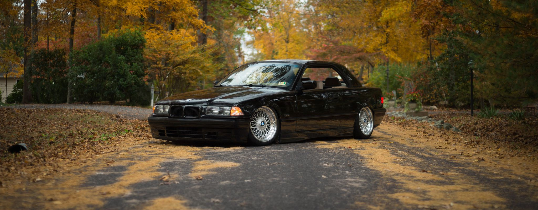 BMW E36 on silver forged wheels