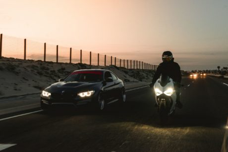 BMW M4 F82 & Ducati 1199 Panigale - at night