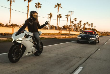 BMW M4 F82 with Ducati 1199 Panigale