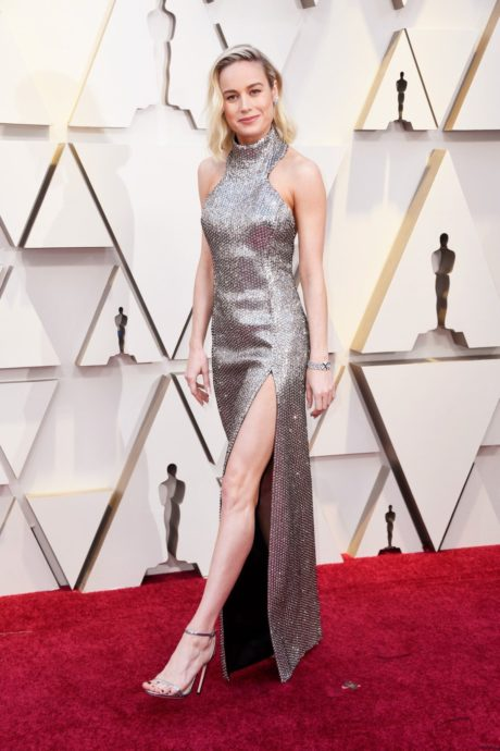 Brie larson in brilliant dress at the Oscars in Los Angeles, 2019