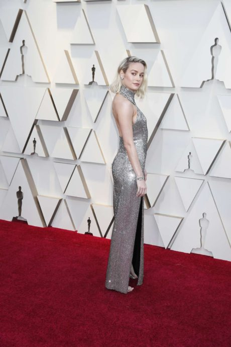 Brie larson in new dress at the Oscars in Los Angeles, 2019
