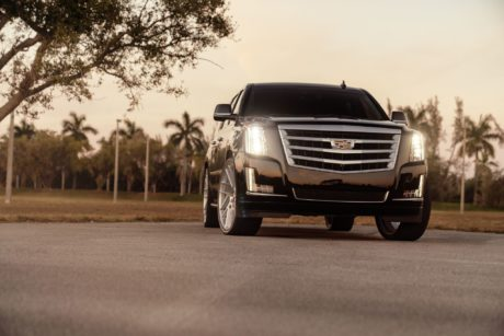 Cadillac Escalade on Status Juggernaut 26 inch Silver Wheels
