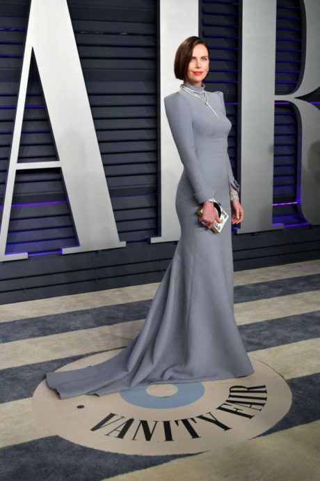 Charlize Theron in new dress at Vanity Fair Oscar Party 2019