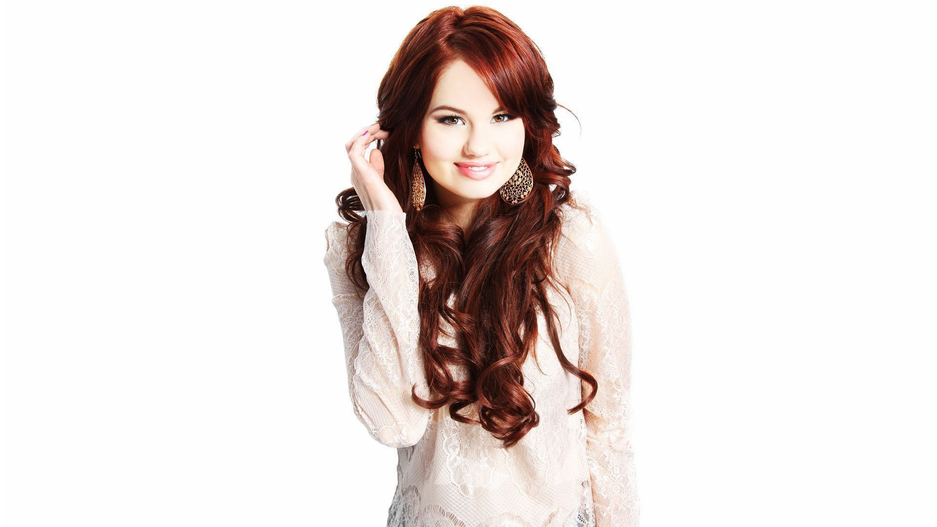 Debby Ryan white hd background