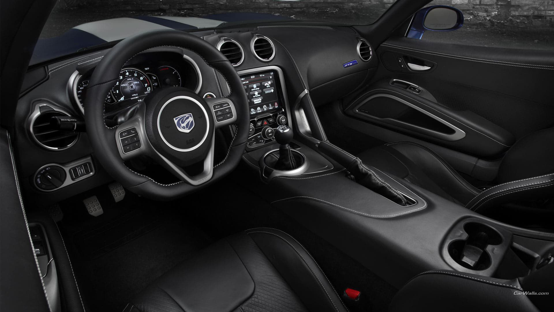 Dodge Viper GTS - black leather interior