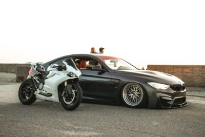 Ducati 1199 Panigale and BMW M4 F82 - it is amazing collaboration
