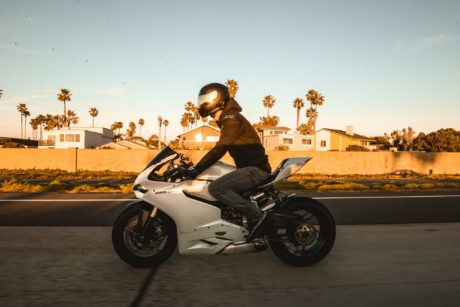 Ducati 1199 Panigale at sunset in Miami