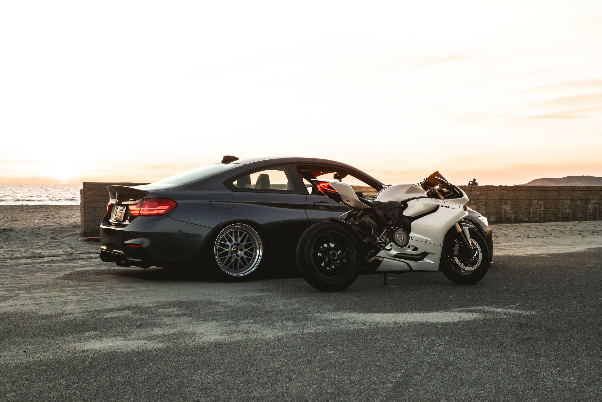 Ducati 1199 Panigale with BMW M4 F82