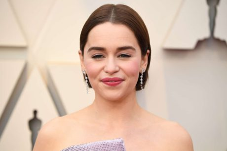 Emilia Clarke with new short hairstyle at the Oscars in Los Angeles, 2019