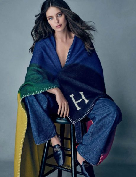 Emily DiDonato in tricolour out for Elle Italia