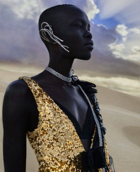 Black model – Harper's Bazaar US – Photos by Txema Yeste – March 2019