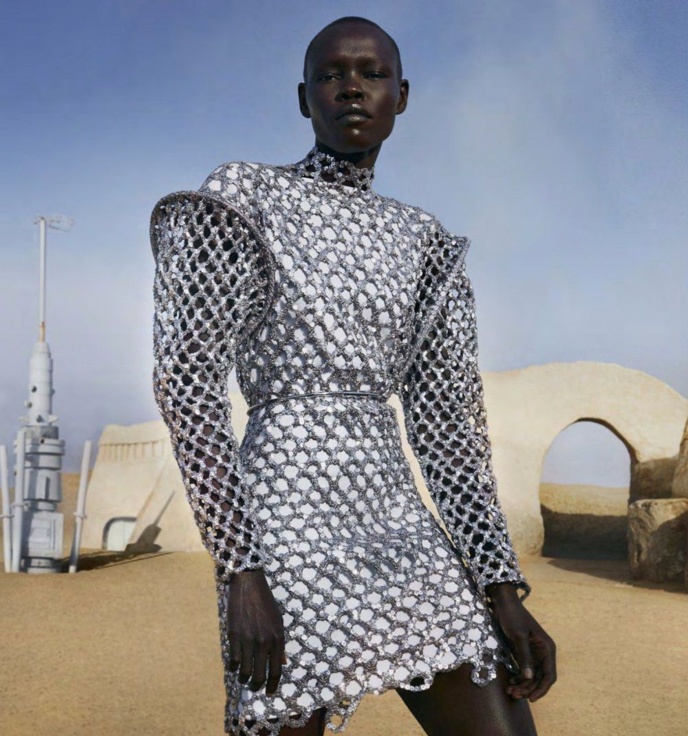 Grace Bol for Harper's Bazaar US March 2019