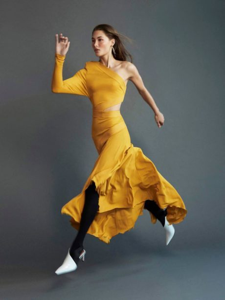 Grace Elizabeth runs by Porter Magazine