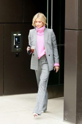 Hailey Baldwin leaves a hotel in new street style, New York