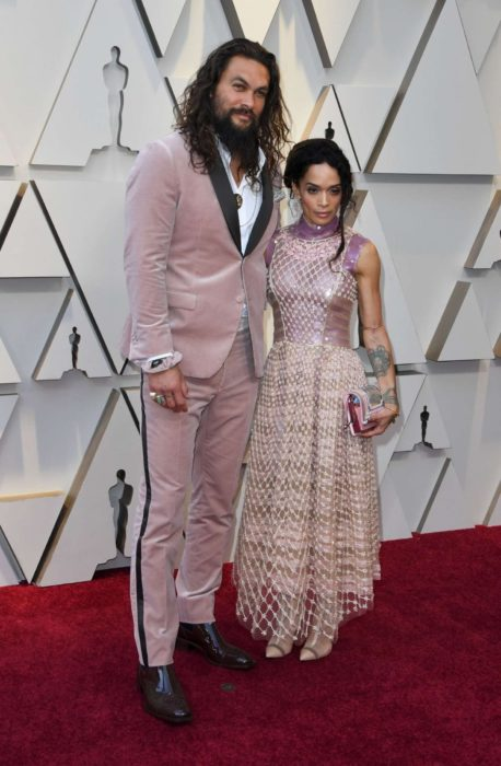 Jason Momoa with Lisa Bonet at the Oscars in Los Angeles, 2019