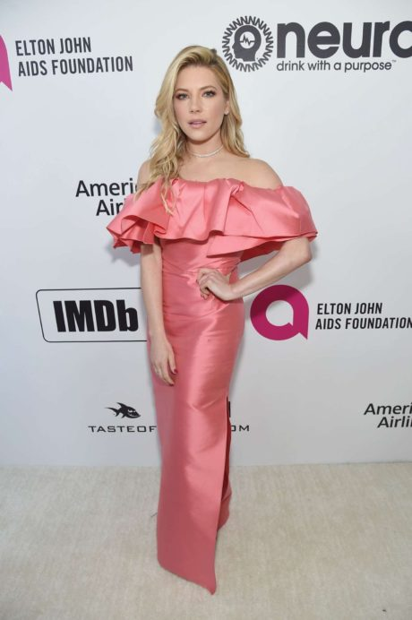 Katheryn Winnick presents new dress at the Elton John AIDS Foundation Academy Awards, 2019