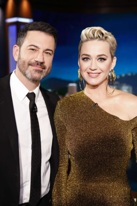 Katy Perry with Jimmy at the 'Jimmy Kimmel Live' in Los Angeles, 2019