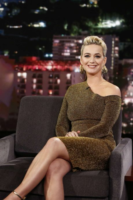 Katy Perry with new short hairstyle at the 'Jimmy Kimmel Live' in Los Angeles, 2019