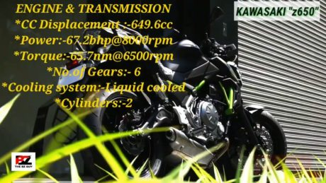 Kawasaki z650 engine & transmission