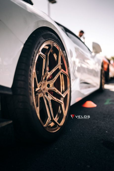 Lamborghini Huracan on custom Velos wheels