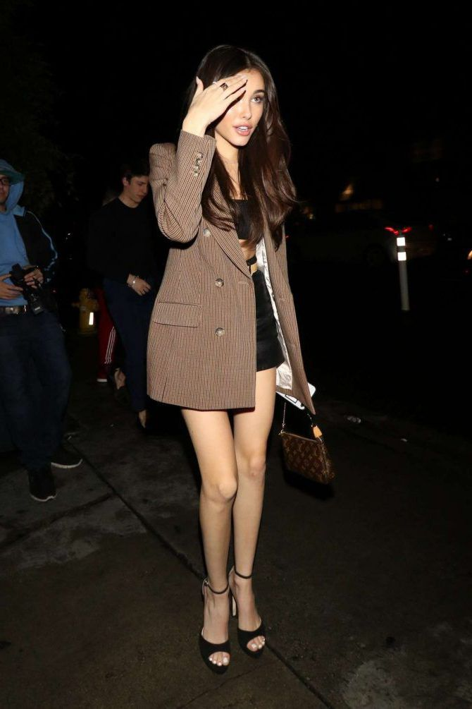 Madison Beer in new coat - Poppy Nightclub in West Hollywood