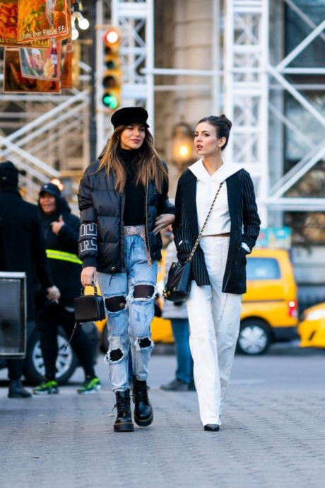 Madison Reed and Victoria Justice in winter collection